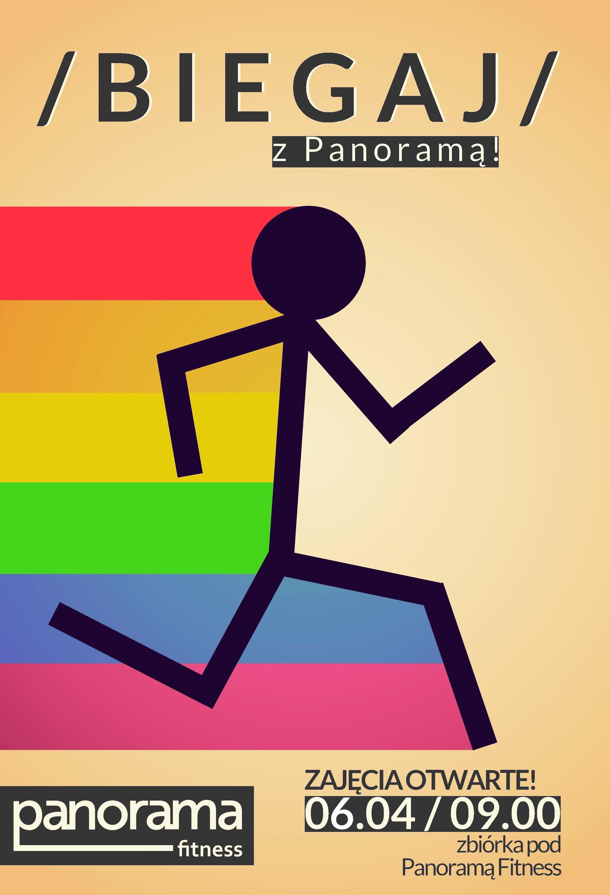 Panorama Fitness - Biegaj zPanoramą - plakat