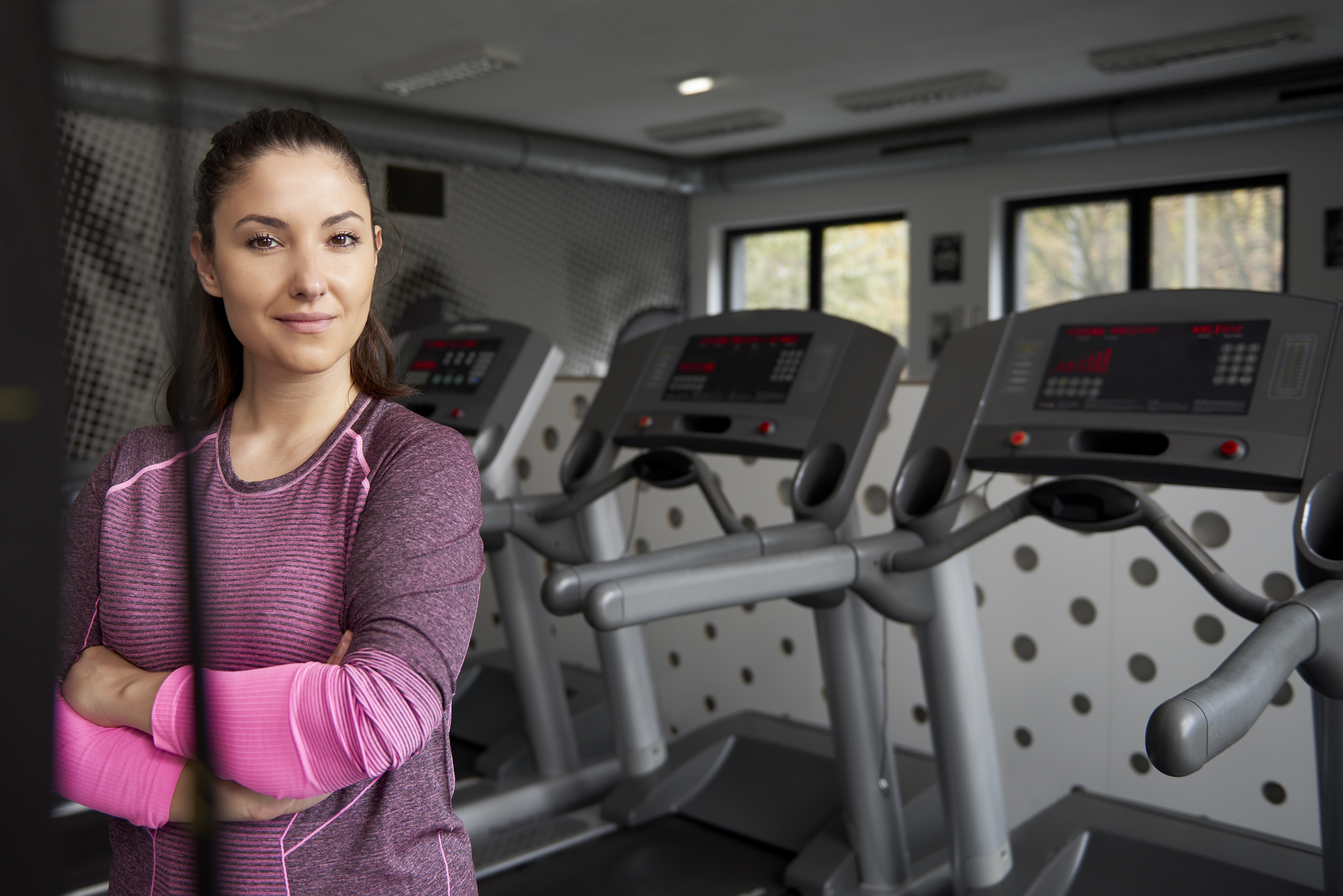 Portrait of female instructor in the gym